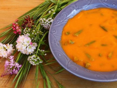Supa crema de legume cu fasole verde