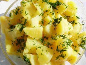 Cartofi natur cu branza