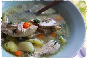 Supa de porc cu conopida si cartofi